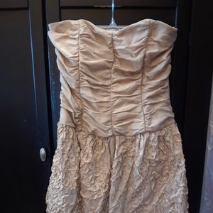 Alyn Paige Gold Strapless Party Formal Dress 5/6